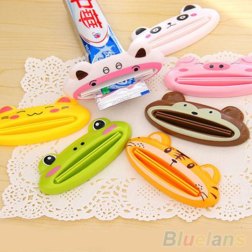 Bathroom Home Tube Rolling Holder Squeezer Easy Cartoon Toothpaste Dispenser to use tube squeezer for all toothpaste facial foam