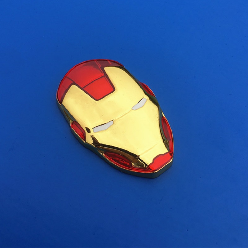 Image 2 - 3D Chrome Metal Iron Man for Car Emblem Stickers Decoration The Avengers Decals Exterior Accessories Silver Gold Car Styling-in Car Stickers from Automobiles & Motorcycles