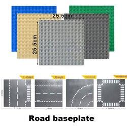 كازي الكلاسيكية قاعدة لوحات البلاستيك الطوب Baseplates متوافق العلامات التجارية الكبرى اللبنات ألعاب البناء 32*32 النقاط