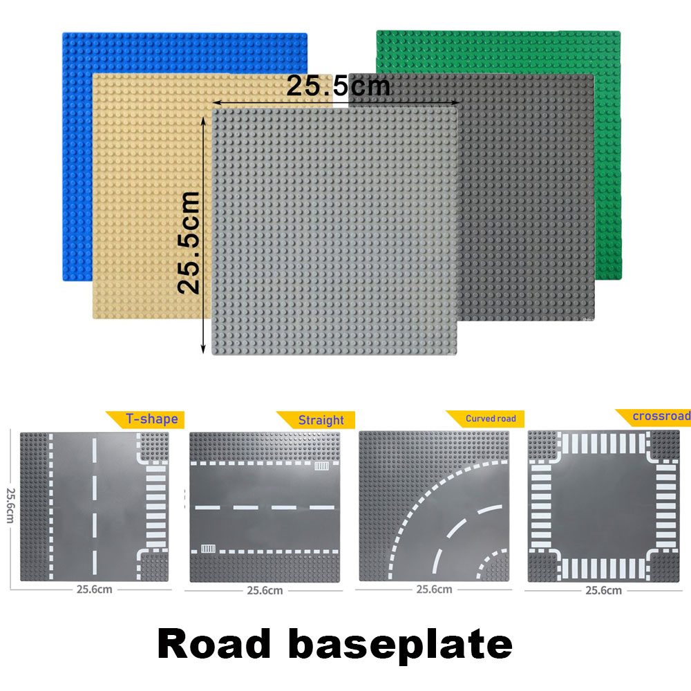 Road <font><b>plate</b></font> Classic <font><b>Base</b></font> <font><b>Plates</b></font> Compatible <font><b>LegoINGlys</b></font> race track Baseplates Building Blocks Construction Toys <font><b>32*32</b></font> Dots image