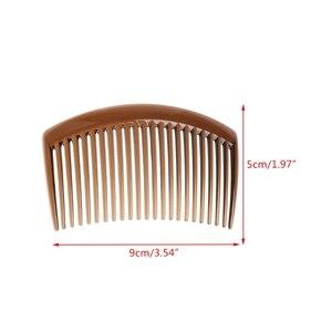 Image 5 - 5 pièces/ensemble peigne à la main 23 dents en plastique chapeaux cheveux accessoires femmes bricolage Clip