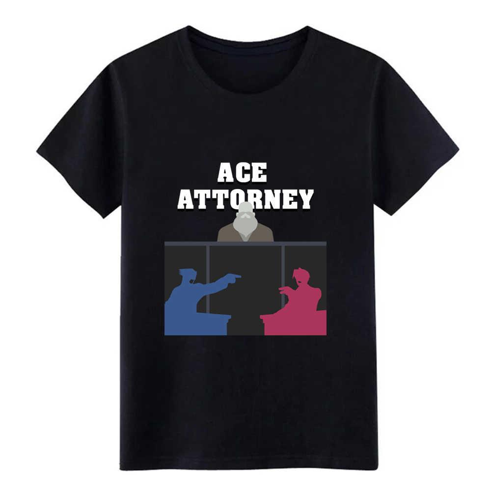 Ace Attorney Phoenix Wright: Ace Attorney Uomo 50/50 T Shirt Personalizzata Tee Shirt Formato S-3Xl Immagini Allentato Shirt Authentic
