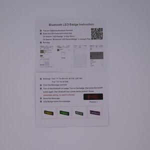Image 5 - Badge publicitaire LED portable, 7 couleurs, plaque signalétique usb, rechargeable, programme de changement avec application mobile, led Bluetooth