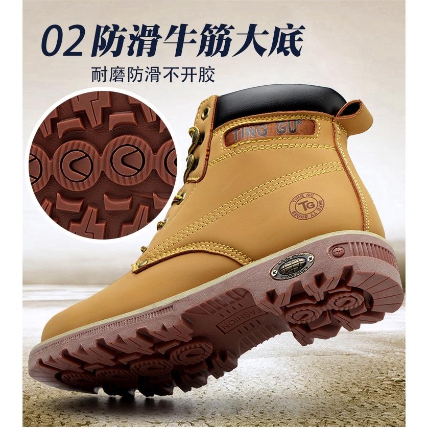 fabrica de venda quente couro homem bota 04