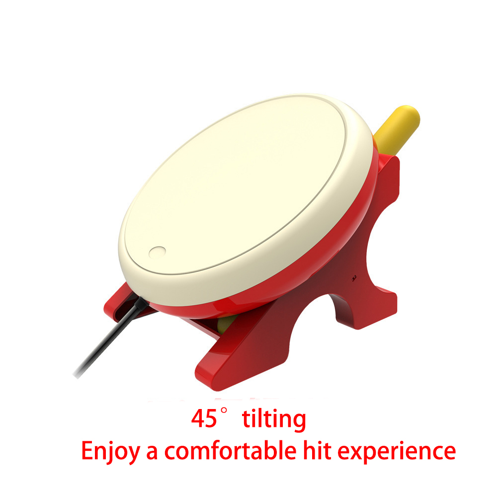 Kit de batons de batterie pour commutateur NS Taiko baguettes de jeu poignée de tambour de jeu vidéo poignée de main Powstro Console Joy-Con tambours spéciaux - 6