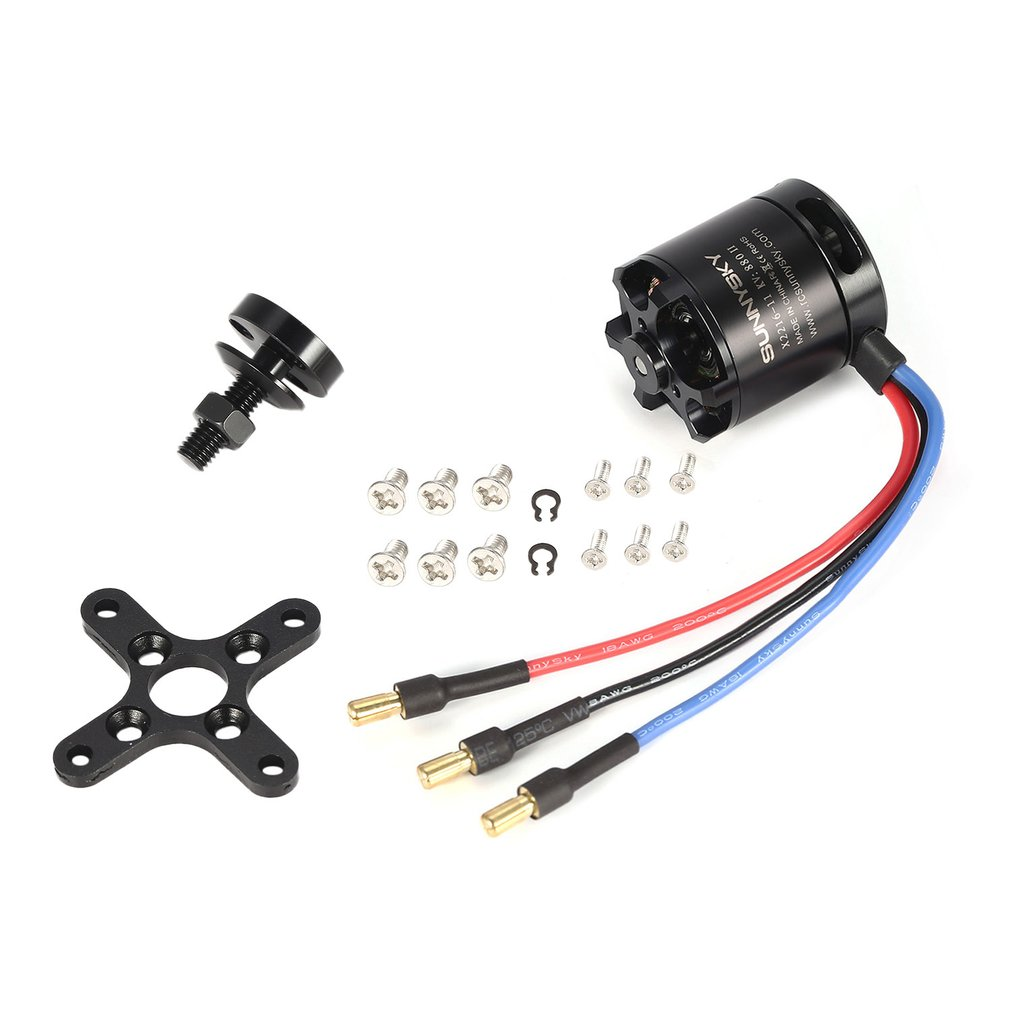 <font><b>SUNNYSKY</b></font> <font><b>X2216</b></font> <font><b>1250KV</b></font>/880KV II 3.175mm 2-4S Outrunner Brushless Motor for RC Drone 400-800g Fixed-wing 3D Airplane Multirotor z image
