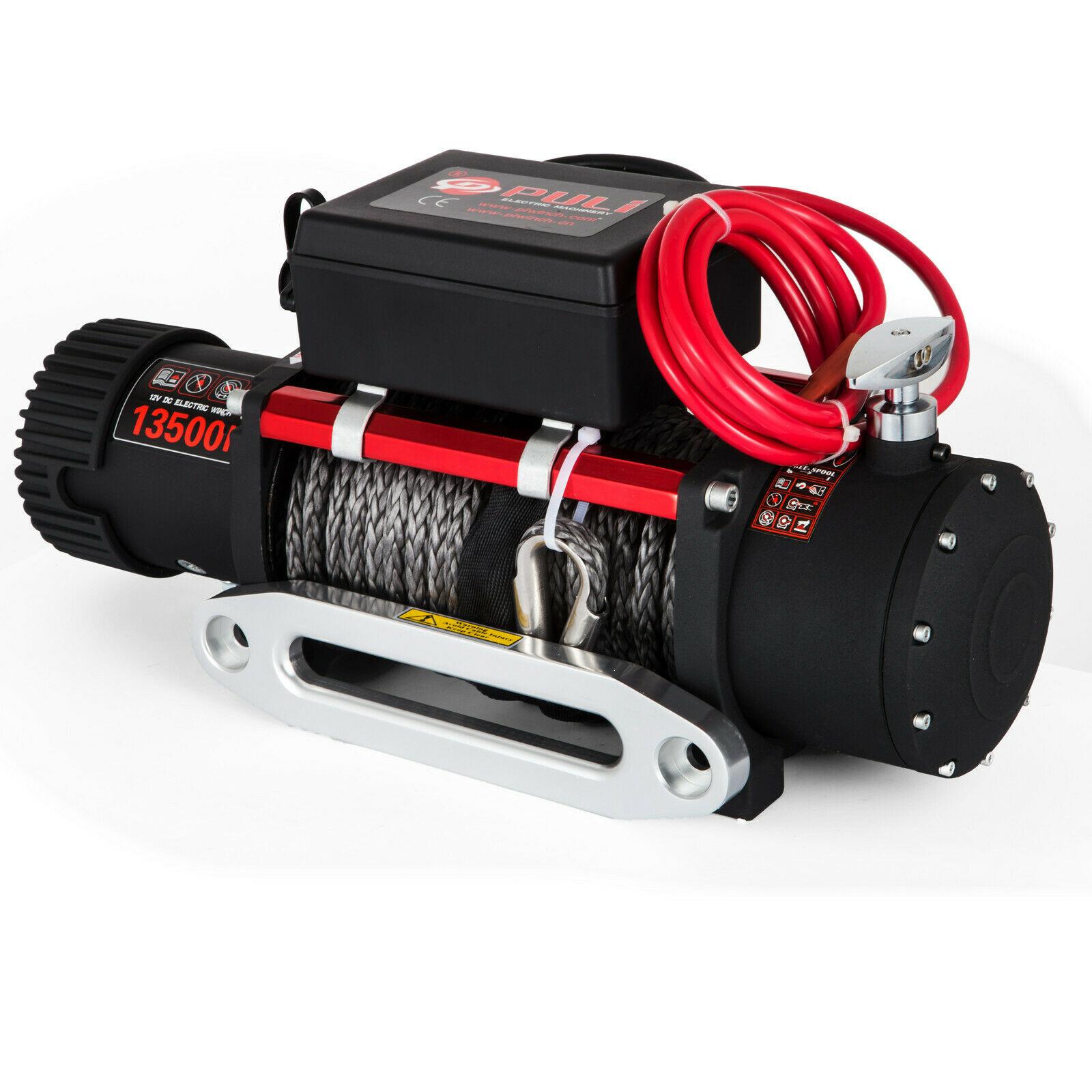 12v Elektrische Winde ATV Recovery Winch 6120 KG 13500LBS Synthetische Seil mit Fernbedienung für ATV UTV