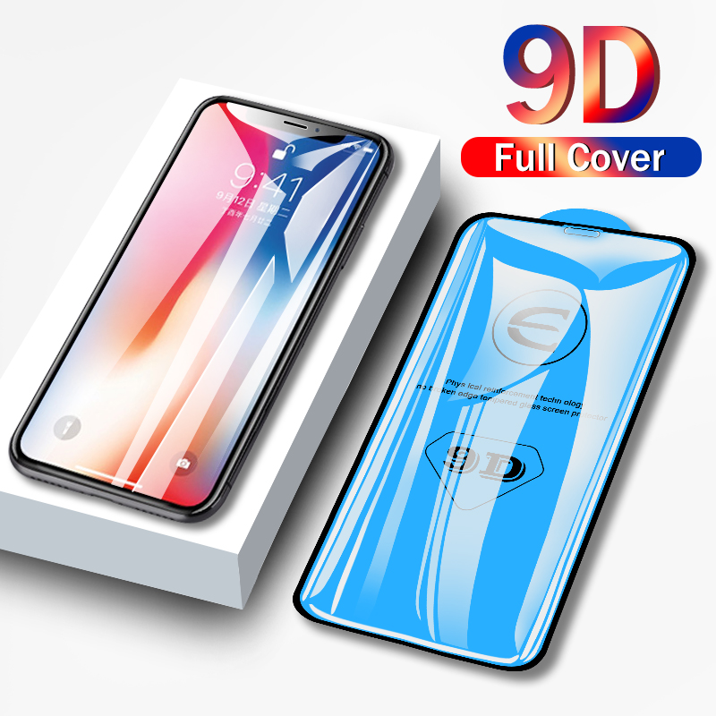 9D protective glass for iPhone 6 6S 7 8 plus X XS 11 pro MAX glass on iphone 7 6 8 plus XR XS MAX 11 Pro MAX 11 screen protector 1