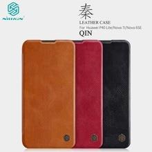 For Huawei P40 Lite Case Nillkin Qin Vintage PU Leather Flip Case with Card Slot for Huawei Nova 7i for Huawei Nova 6SE Case