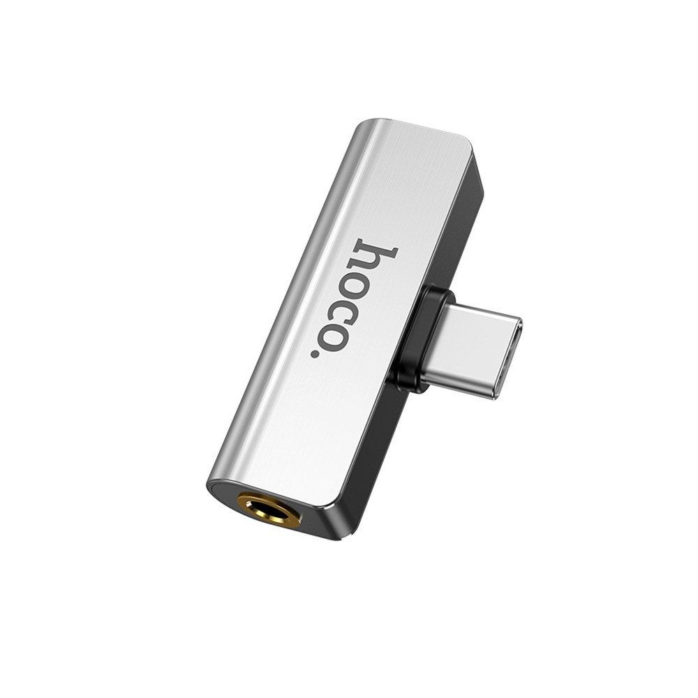 HOCO LS26 Type C Headphone Charger Adapter USB TYPE-C To 3.5MM Audio&TYPE C Charger Converter For Smartphone Xiaomi Huawei
