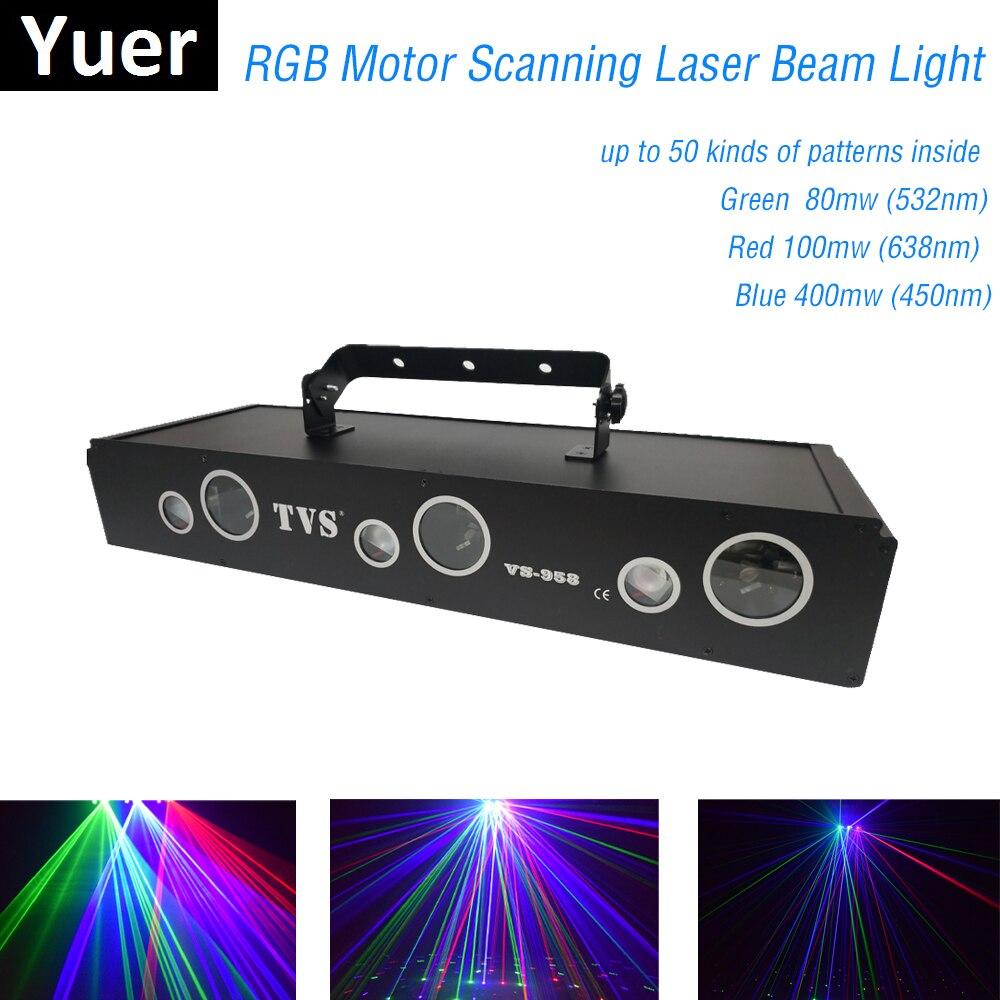 580mw RGB Motor Scanning Laser Beam Light 50 Patterns Laser Projector Light Home Party DJ Stage Lighting KTV LaserShow Discos