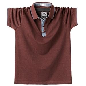 Image 2 - Purple Men Polo Shirt Top Business Office Men Camisa Masculina Cotton Badge Polo Shirt Plus Size 6XL Summer Casual Tee Shirts