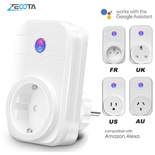 Smart WiFi Plug Power Electrical Socket Adapter EU/US/UK/AU Outlet Voice Time Remote Control by Echo Alexa Google Home Assistant