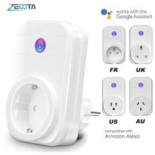 Smart WiFi Plugปลั๊กไฟฟ้าSocket Adapter EU/US/UK/AU Outlet Voice Timeรีโมทคอนโทรลโดยecho Alexa Google Home Assistant