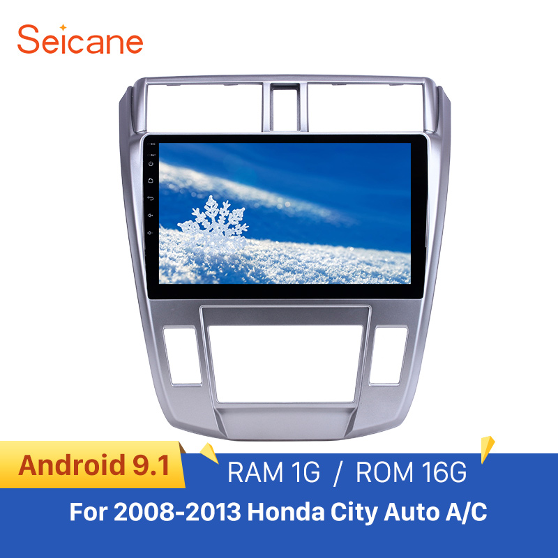 <font><b>Seicane</b></font> Android 9.1 GPS car Radio 10.1 inch for 2008-2013 <font><b>Honda</b></font> <font><b>City</b></font> Auto A/C With HD Touchscreen support Carplay Backup camera image