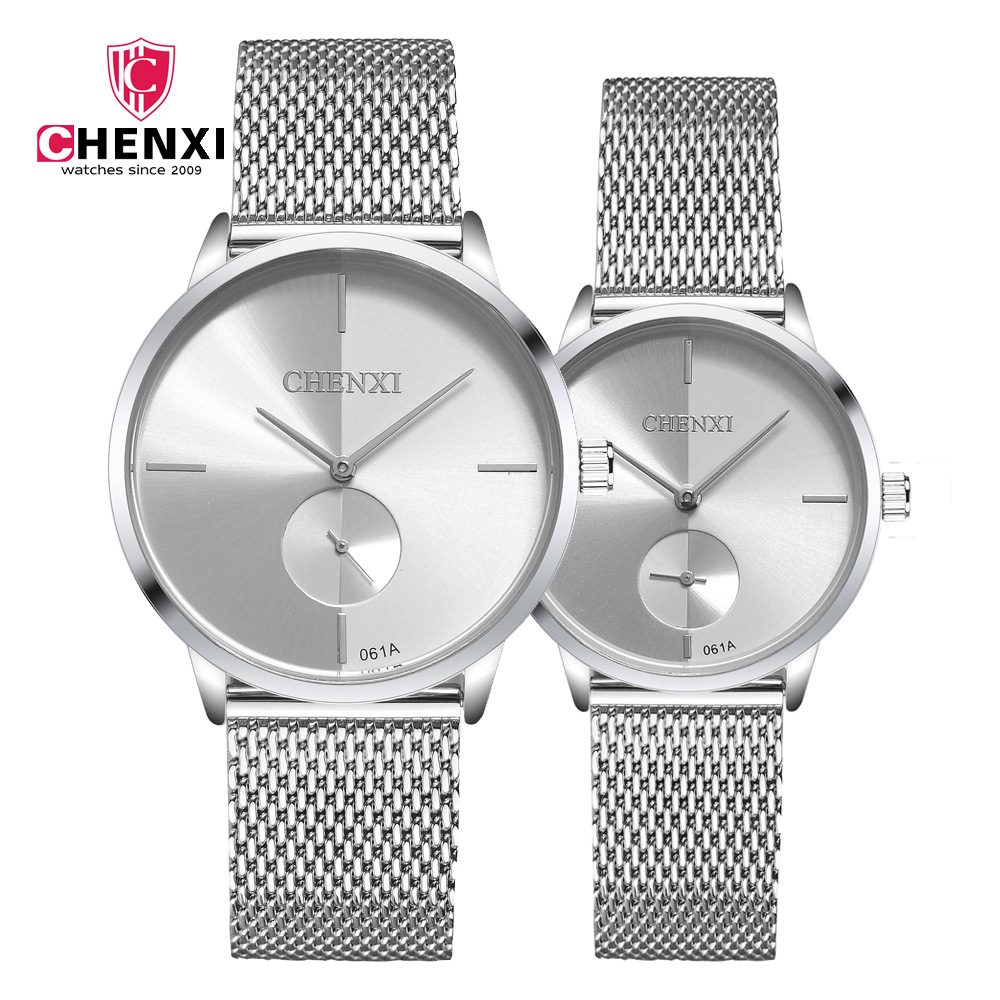 Couple Watches 2019 New Fashion mesh  Lover's Watches Student Couple Watch Gifts  for Men Women Clock Pareja Pair mesh band