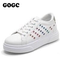 GOGC flats shoes women sneakers women woman flats woman shoes slip on shoes for women canvas shoes woman vulcanize shoes G6820