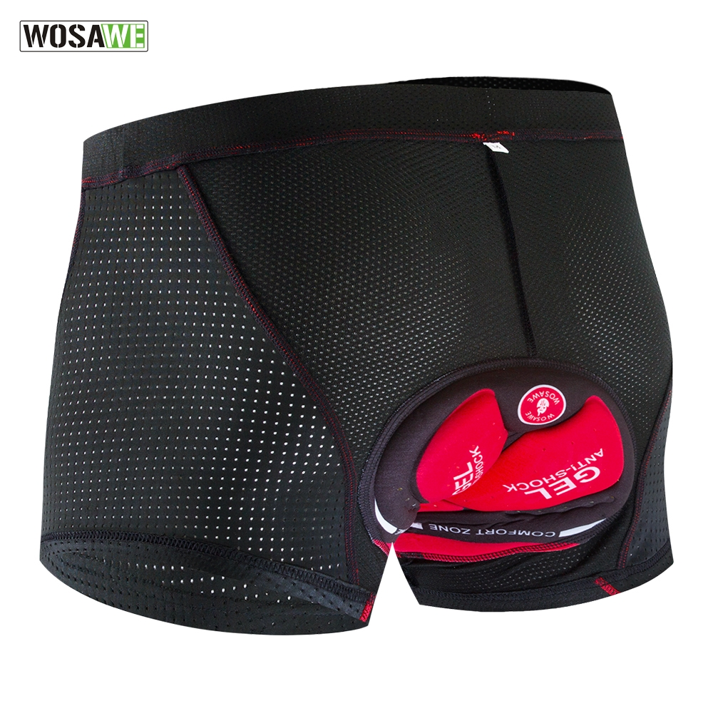 Women Men Cycling Shorts/' Padded Pad Biking Underwear Cushion for Bicycle