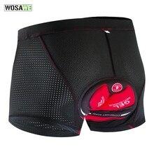 WOSAWE mise à niveau cyclisme Shorts hommes sous-vêtements de cyclisme Pro 5D Gel Pad antichoc rembourré sous-pantalon vélo Shorts sous-vêtements de cyclisme