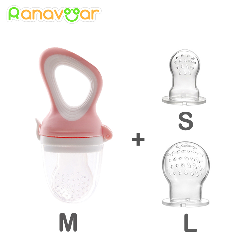 3 Size In 1 Baby Nipple Food Fruit Milk Feeding Bottles Nibbler Learn Feeding Drinking Water Straw Handle Teething Pacifier