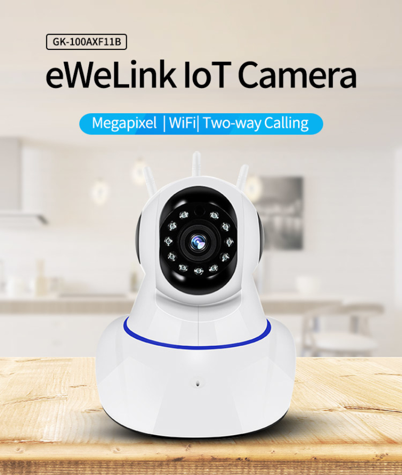 EWeLink APP Camera Smart IOT HD Camera Reomotely Viewing 720P One Million Pixel Smart Camera Night Vision Mounting Bracket
