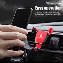 1Pcs Neue Stil Auto Telefon Halter 360 Rotation Gravity Auto Grip Halterung Für Peugeot 206 307 308 207 3008 208 407 508 2008 5008
