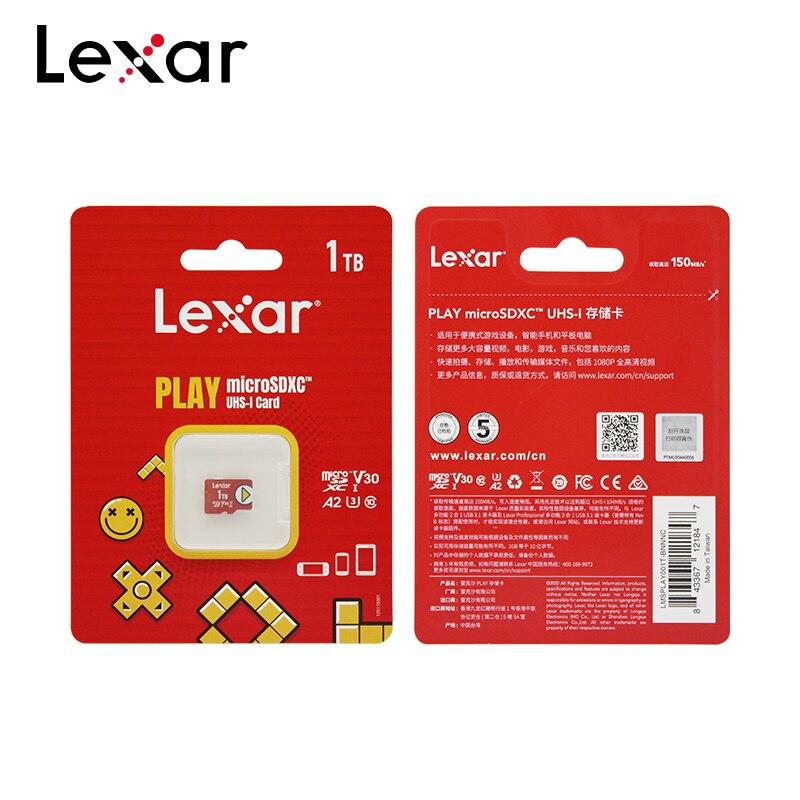 Original Lexar Play Micro SD 1TB SDXC V30 A2 TF Card High Speed Trans Flash Memory Card Microsd For Phone/Tablet 5