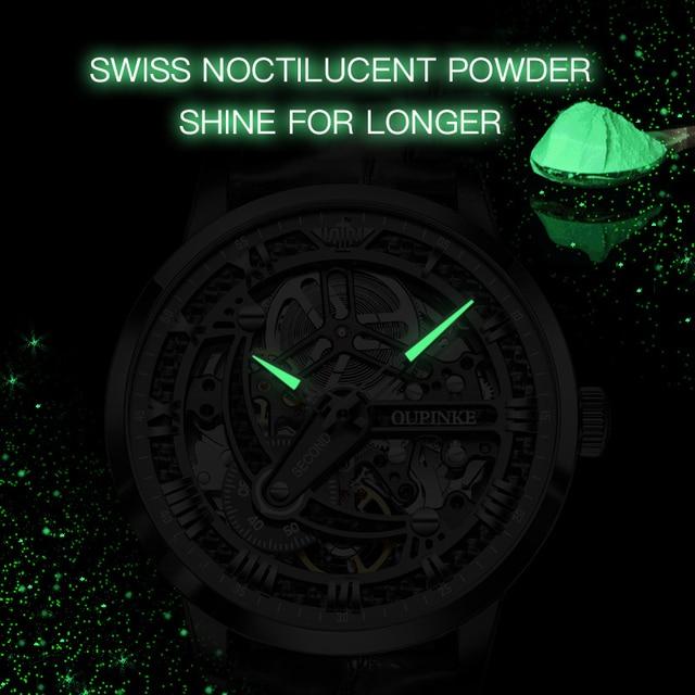 OUPINKE Swiss Tourbillon Skeleton Mechanical Watch 5