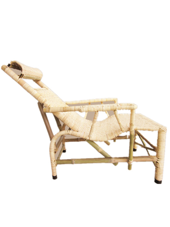 Vintage Bamboo Plant Vine Old Rattan Chair Recliner Rattan Chair Lunch Break Chair Handmade Bamboo Bed Chair Factory Direct