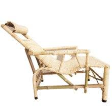 Silla de mimbre antigua de vid de planta de bambú Vintage silla reclinable de ratán silla para almuerzo silla hecha a mano de bambú Silla de cama directa de fábrica