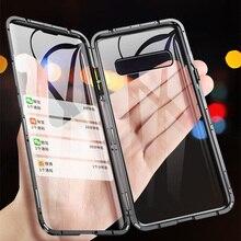 Voor Samsung Note 20 Ultra 360 Magnetische Metal Case Op Samsung Note 9 8 10 S20 Ultra S10 S9 S8 plus S10e M31 Gehard Glas Covers