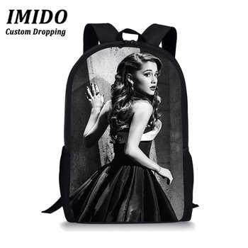 LALIN Ariana Grande Students Womens Backpack Bag Teenagers Backpack Travel Package Shopping Shoulder Bag Women Mochila Mujer