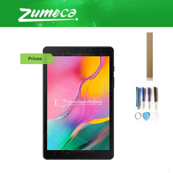For Samsung Galaxy Tab A 8.0 2019 WiFi SM-T290 T290 LCD Display+Touch Screen Digitizer Black White Color With Tools Tape
