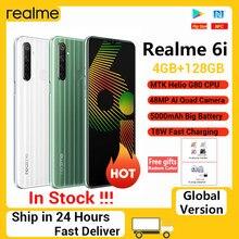 Realme 6i 6 i 4gb 128gb telefones celulares nfc 6.5