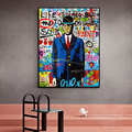 Money Canvas Painting Street Graffiti Pop Art Man Poster Print Wall Picture For Living Room Home Decor Frameless