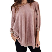 Plush Warmth Comfort Leisure Maternity Tee Loose Clothes Sweater Pregnancy Long Sleeve Clothing Top For Pregnant Women Clothes