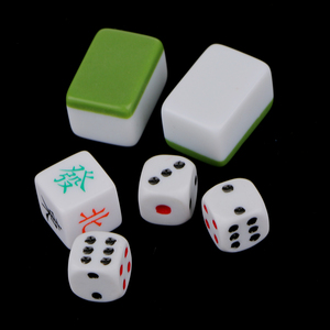 Image 4 - 1 Set Van Chinese Traditionele Mahjong Board Game Verzamelen Party Fun Speelgoed Lichtgroen