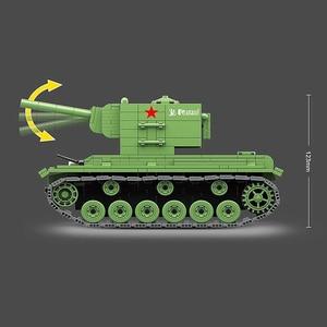 Image 5 - 818 ADET Askeri Tank Sovyet Rusya KV2 Tankı Yapı Taşları Fit Legoing WW2 Asker Polis Ordu Tuğla Çocuklar için çocuk oyuncakları Hediyeler