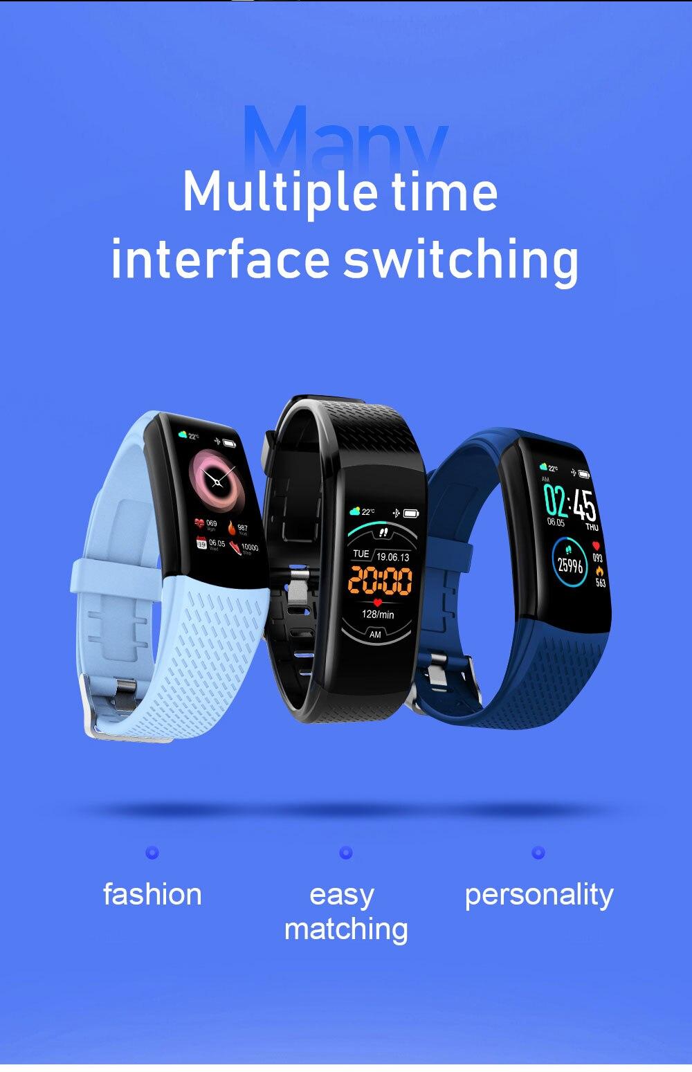 H5154aaacefa044848d942b8410c5b938d Smart Fitness Bracelet Blood Pressure Measurement Fitness Tracker Waterproof Smart Band Watch Heart Rate Tracker For Women Men