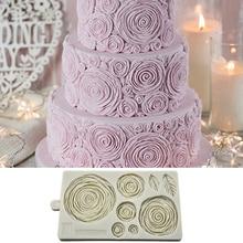 Silicone Baking Mould Gray Cake Lace Christmas Bar Brithday Decor Cake Fondant Mould Creative Rose Pattern Chocolate Tool недорого