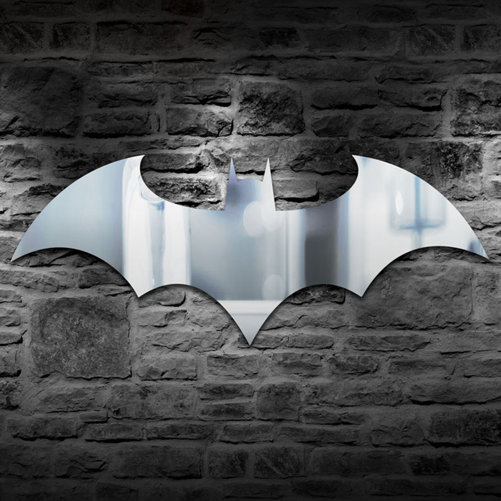 Led Wall Light Personality USB Remote Control Batman Mirror Light Colorful Color Cupboard Corridor Living Room Bedroom Decor