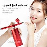 Nano Portable Oxygen Spray Water Injection Machine Skin Whitening Moisturizing Sprayer Facial SPA