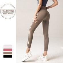 Высокая талия леггинсы брюки для йоги пуш ап Фитнес облегающие