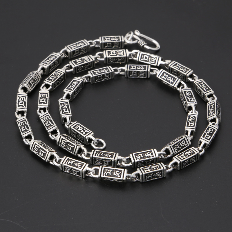 S925 argent Thai argent Style rétro collier pour hommes bijoux populaires en argent Sterling fait à la main Vintage 925 collier