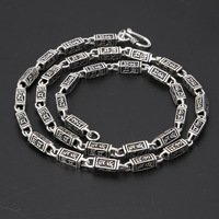 S925 Silver Thai Silver Retro Style Men's Necklace Popular Jewelry Sterling Silver Handmade Vintage 925 Necklace