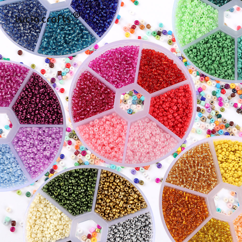1box(about 54g)/lot 2mm Charm Czech Glass Seed Beads With Hole Candy Cream Color DIY For Jewelry Making Accessories Craft F0709