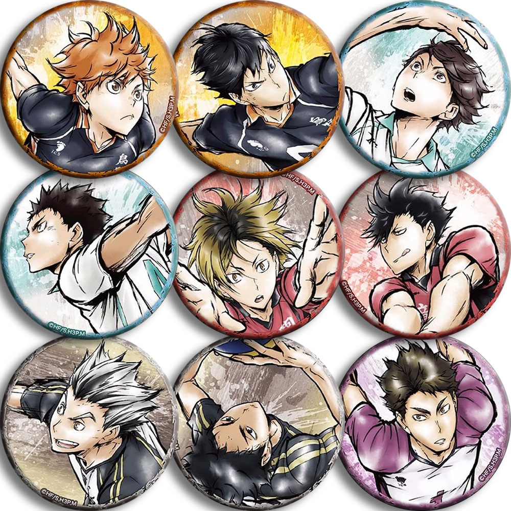 Volleyball Junior And Wind Badge Day Xiangyang Anime Badge 58mm Two Yuan Anime Periphery Gift Poster Costumes Badge