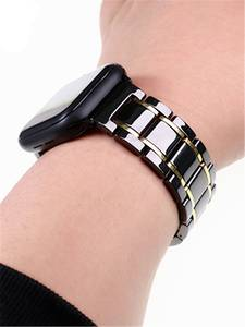 Ceramic Watch band for Apple Watch 4 5 44mm 40mm iwatch 3 2 38mm 42mm Ceramic and Stainless