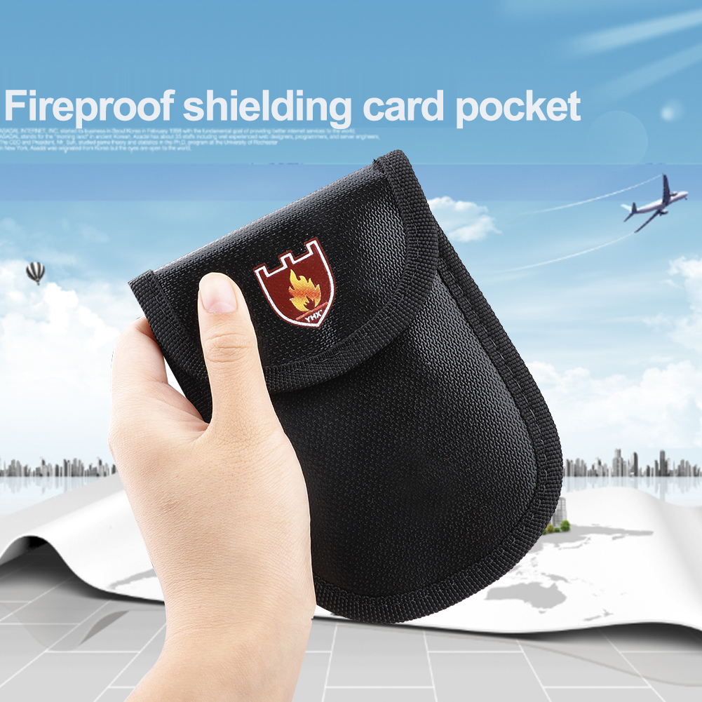 Safe Storage Fireproof Bag Small Size Fire Proof Money Pouch Holdersfor ID Card Passport Bills Receipts Cash