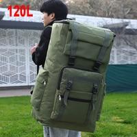 Mochila táctica militar grande de 120L para hombre, bolsa de equipaje de asalto impermeable para exteriores, deporte, Trekking, Camping, viaje, X224A